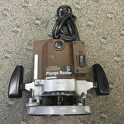 "Professional Woodworker Plunge Router 1200w 1 3/4hp 1/4"", 3/8"" or 1/2"" Shanks"