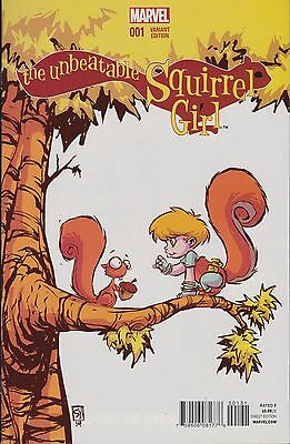 Marvel Comic The Unbeatable Squirrel Girl #1 Skottie Young Variant
