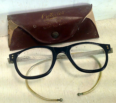Vintage Protector Multi-Fit Safety Glasses in Original Leather Case (4744)
