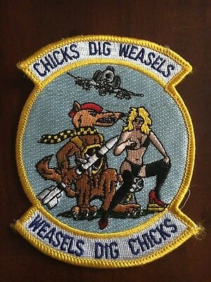 Rare F-4 Phantom Chick Dig Weasels Patch