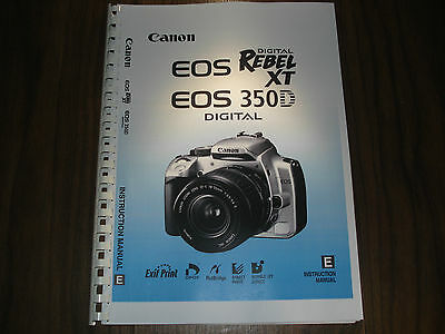 ~PRINTED~ Canon EOS 350D  User guide Instruction manual A4 or A5