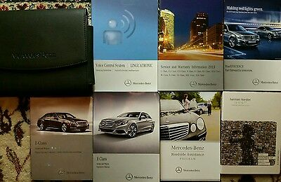2013 Mercedes Benz E Class Sedan, Wagon Owners Manual Complete Set With Case