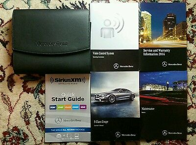 2016 Mercedes Benz S Class Coupe Owners Manual Complete Set With Case