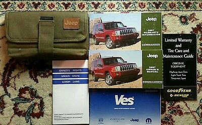 2007 Jeep Commander Owners Manual Complete Set With Case