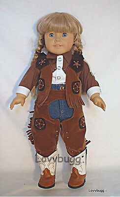 "Western Cowgirl Cowboy w Chaps for American Girl 18"" Doll Clothes MOST VARIETY!"