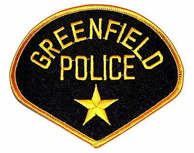 GREENFIELD WISCONSIN WI Police Sheriff Patch GOLD STAR ~