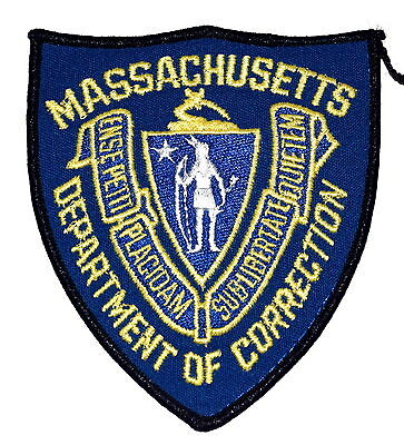 MASSACHUSETTS - DEPT CORRECTIONS - MA Police Sheriff Patch SEAL VINTAGE OLD ~