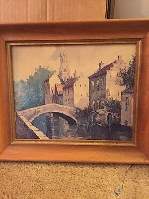 Vintage The Bridge By Laarhoven Museum Print Edition Framed 8 X 10 Inches