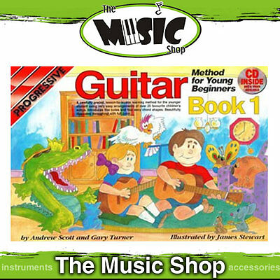 New Progressive Young Beginner Guitar Method Book 1 with CD - Kids Lesson Book