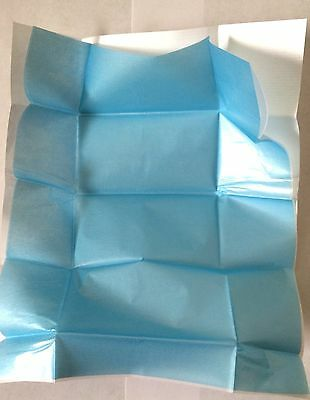 VISION Premium Belgium Blue Diamond Parcel Papers Lined White+XLight Blue 100pc