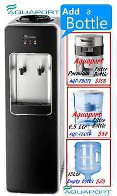 New 2017 Aquaport Executive Water Cooler Black & Silver- AQP FCH B -Add Bottle