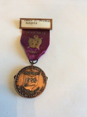 1950 ORDER OF DEMOLAY MASONIC DELEGATE 25th OHIO STATE MEDAL KNIFE JAMES FEATHER
