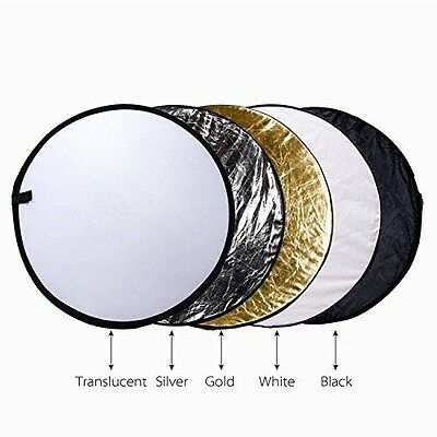 """Etekcity 32"""" (80cm) 5-in-1 Multi-disc Collapsible Photo Light Reflector"""