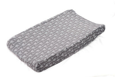 USED Danha Grey Arrow Changing Pad Cover