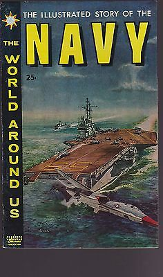 Old Comic The World Around Us Illustrated Story of the Navy 1959
