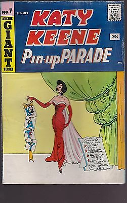 Old Comic Katy Keene Pin-up Parade #7  Giant Size 1959
