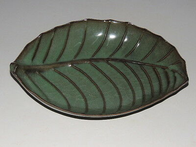Rare Chinese porcelain LongQuan Official kiln  Brush Washers(Leaf shape)