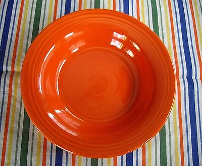 Vintage Fiesta RED Rimmed Soup Bowl ~