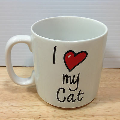 I Love My Cat Mug Heart Kittie Lover Russ Berrie