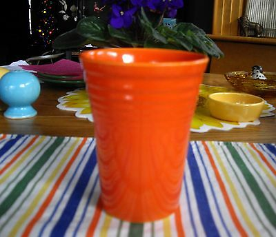 "Vintage Fiesta RED 4 1/2"" Water Tumbler ~"