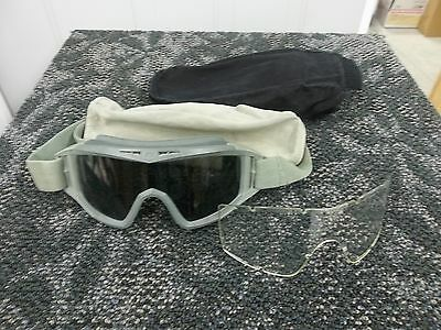 Revision Locust Protective Ballistic Paintball Shooting Goggles Clear Dark Lens