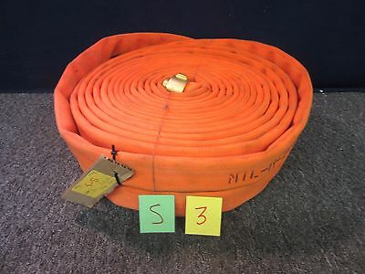 """2 WATER HOSE 50 FT x 1 3/4"""" BRASS FITTING 1.5"""" NPSH 300 PSI MILITARY FIRE NEW"""