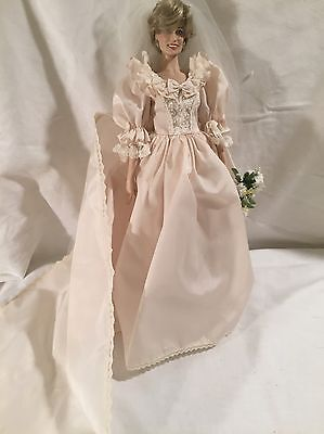 "Franklin Mint Princess Diana ""The People's Princess""  Doll   and Wedding Gown"