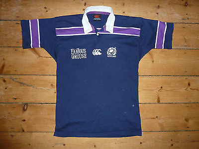 Scotland Rugby Shirt age large Famous Grouse Maroc Maillot Domicile  6 NATIONS