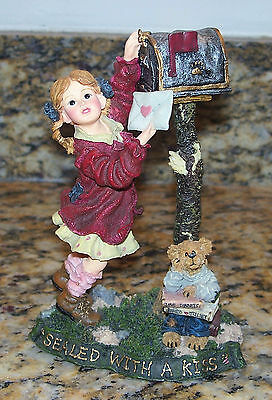 Boyds Yesterday's Child Dollstone Valerie & Romeo Sealed With A Kiss Valentine's