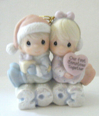"Precious Moments Figurine "" Our First Christmas Together"" #112841 2003 Nib"