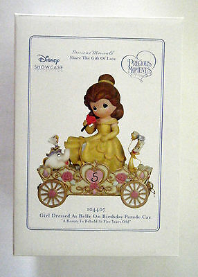 Precious Moments Disney Birthday Parade Train Figurine Belle Age 5 #104407