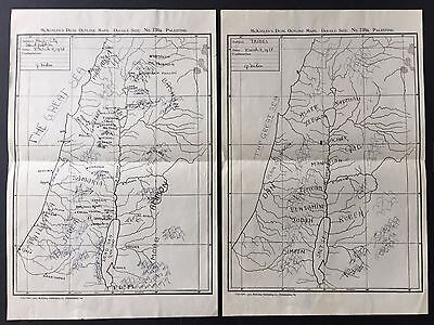 1907 Maps Of Palestine Location Of Ancient Tribes And Identification Of Cities