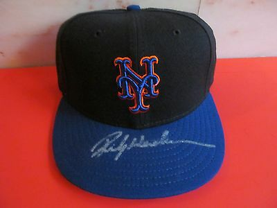 Rickey Henderson Autographed New York Mets Game Model Hat -- MOS COA  Sweet!