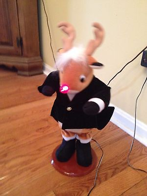 JC Penney RUDOLPH THE RED NOSED REINDEER DANCING MUSICAL IN BOX