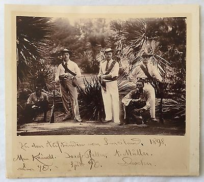SOLDIERS & SCOUTS PRE 2nd BOER WAR 1898 SWAZILAND SOUTH AFRICA RARE PHOTOGRAPH