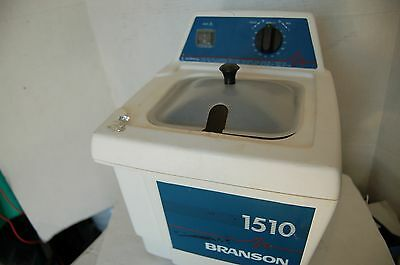 Branson 1510 Ultrasonic Cleaner  Tested water bath small  laboratory sonic tray