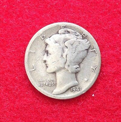 Nice 1941-S Liberty Head Mercury Dime