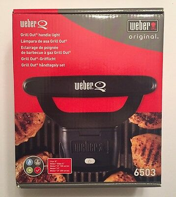 Weber Q Original Grill Out Handle Light Model 6503-New