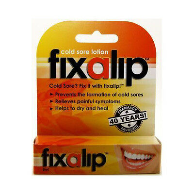 ~ Fixalip Cold Sore Lotion 8Ml Helps Dry, Soothe And Heal Cold Sore Lesions