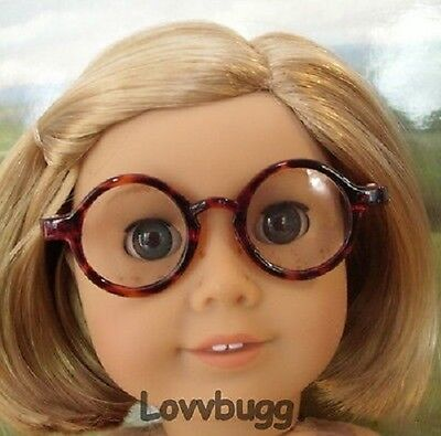"""Brown Tortoise Eye Glasses for 18"""" American Girl Doll Accessories Specialist"""