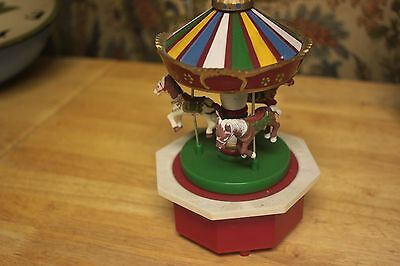 Musical Carousel Horse  Melody Rudolph Red Nosed Reindeer