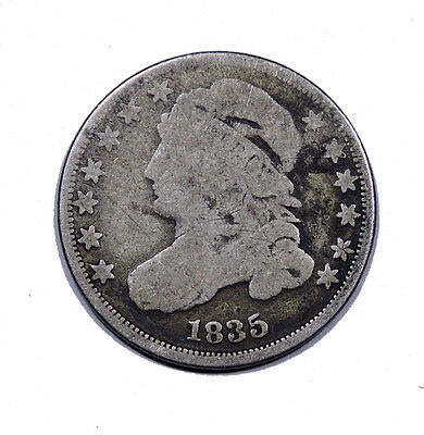 1835 Capped Bust Dime  Good Condition 10c silver