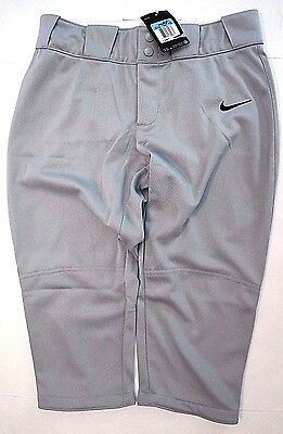NWT Women's * NIKE Stock All Out GRAY 3/4 PANT SIZE - MEDIUM 553208 052 MSRP $50