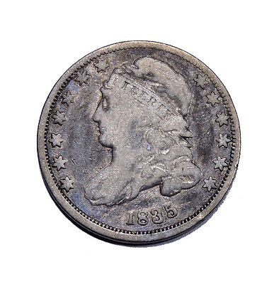 1835 Capped Bust Dime VG Very Good Condition 10c silver Full Liberty
