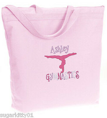 PERSONALIZED Bag Tote Purse Gymnastics Dance Acro Light Pink Free Shipping