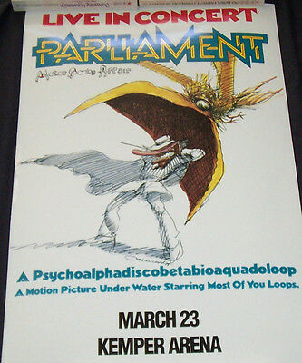 George Clinton & Parliament 1978 Boxing Style Concert Poster  (Fast Shipping)