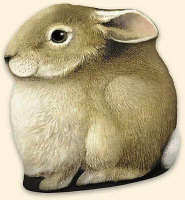 """Adorable Bunny Rabbit Paper Weight Art by Marjolein Bastin 4.5"""" tall Brand New"""