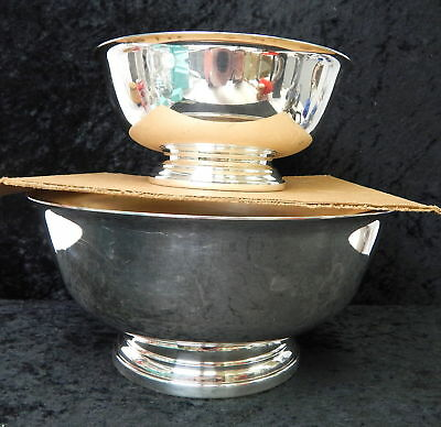 Pair Gorham Silver Plated Silverplate Footed Bowl Compote Lot YC779 YC781