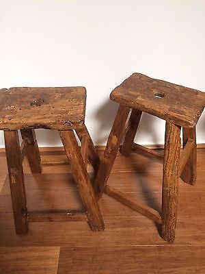 Antique handmade chinese stools