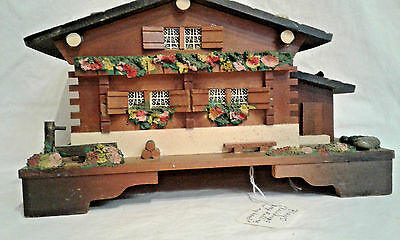 "Alpine Chalet Music Box - Plays ""Raindrops Keep Falling on my Head"""